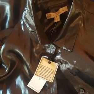 Banana Republic Tops - Heritage Collection Liquid Silver Blouse